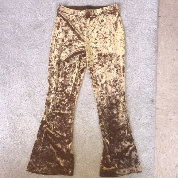 Urban Outfitters Pants - Gold velvet urban outfitters pants